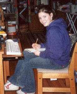 Amanda in her home in Seattle prior to leaving for Italy